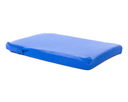 Pilates head pad and cover small blue