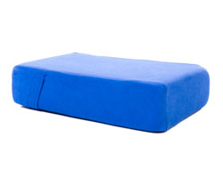 Pilates head pad and cover large blue